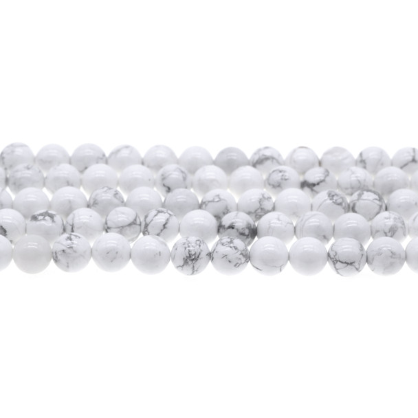 Howlite Round 8mm - Loose Beads