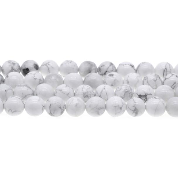 Howlite Round 10mm - Loose Beads