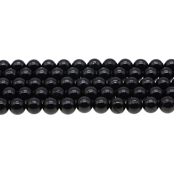 Jet Stone Round 8mm - Loose Beads