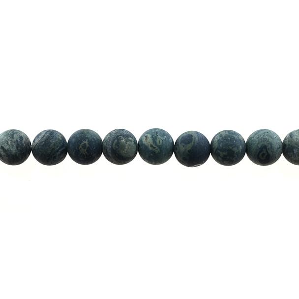 Kambaba Jasper Round Frosted 10mm - Loose Beads