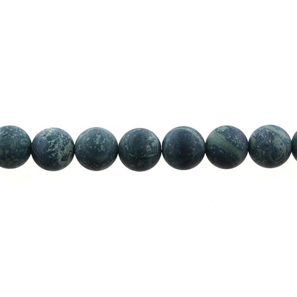 Kambaba Jasper Round Frosted 12mm - Loose Beads