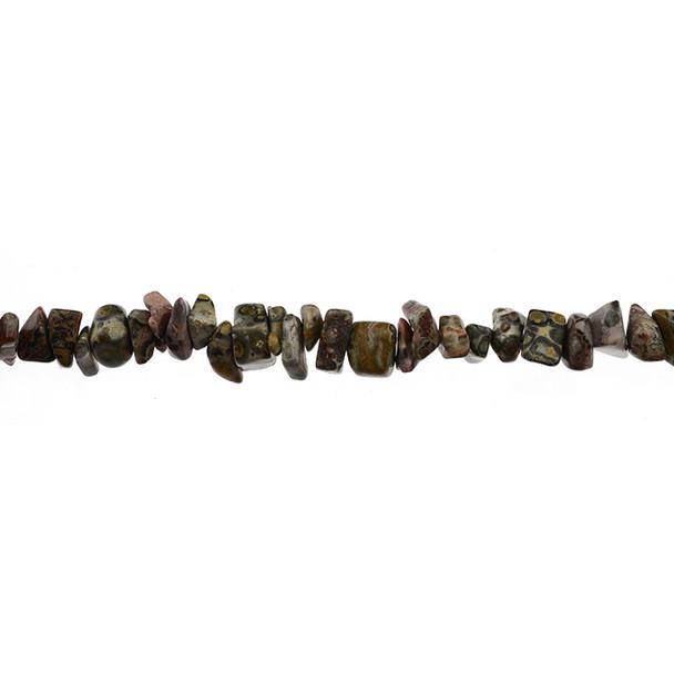 Leopard Skin Jasper Chips 7mm x 7mm x 5mm - Loose Beads