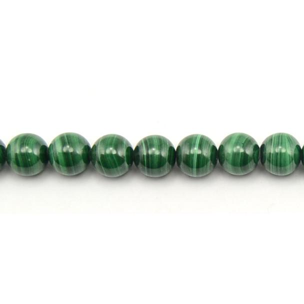 Malachite Round 10mm - Loose Beads
