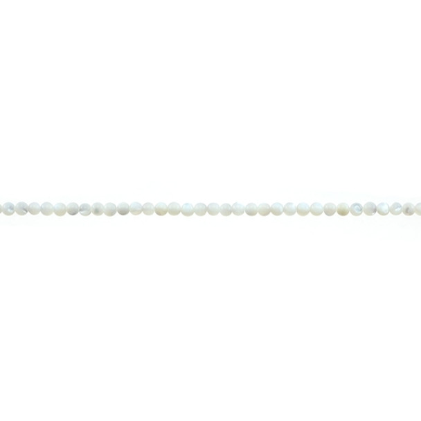 White Mother of Pearl Round 2mm - Loose Beads