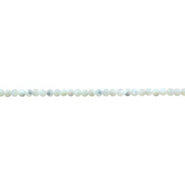 White Mother of Pearl Round 3mm - Loose Beads