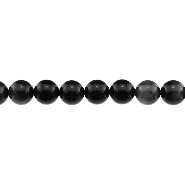 Silver Sheen Obsidian Round 12mm - Loose Beads
