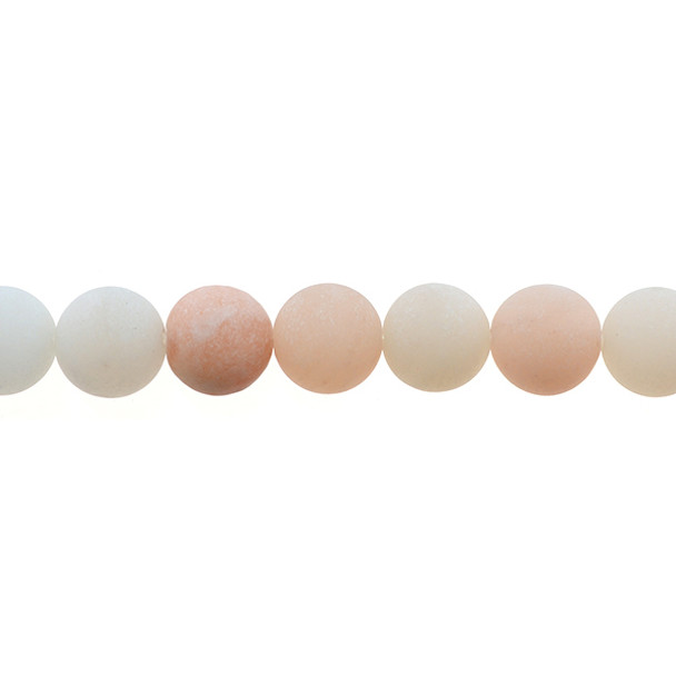 Pink Aventurine Round Frosted 12mm - Loose Beads