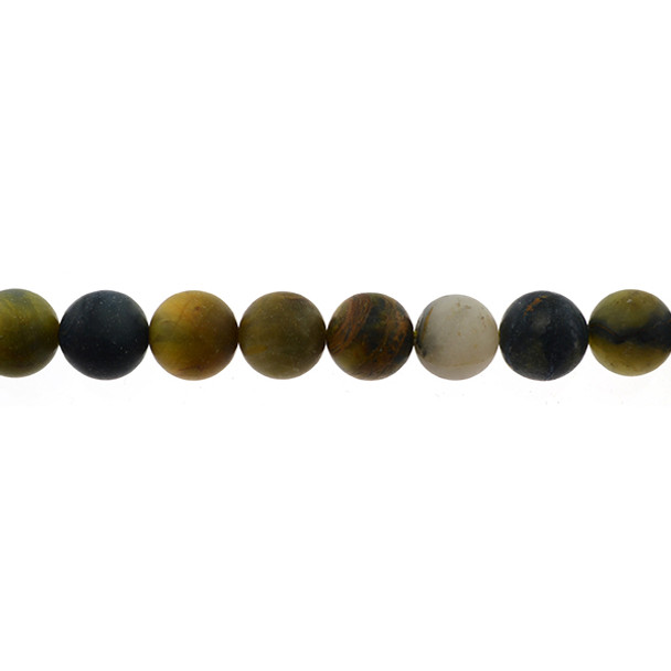 Pietersite Round Frosted 12mm - Loose Beads