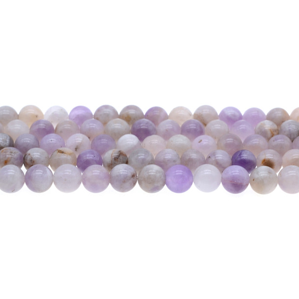 Natural Purple Lilac Jade Round 8mm - Loose Beads