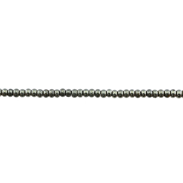 Pyrite Rondel 3mm x 3mm x 2mm - Loose Beads
