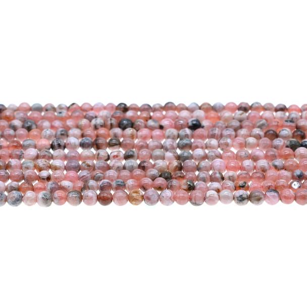 Argentina Rhodochrosite Round 4mm - Loose Beads