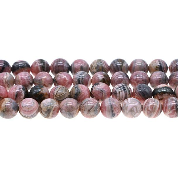 Argentina Rhodochrosite Round 10mm - Loose Beads