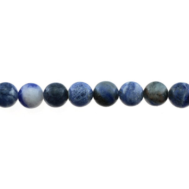 Sodalite Dual Tone Round 10mm - Loose Beads