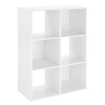6 Section Cube Organizer White