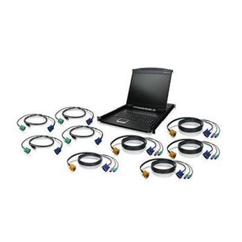 """8Port 19"""" LCD KVM Kit  USB"""