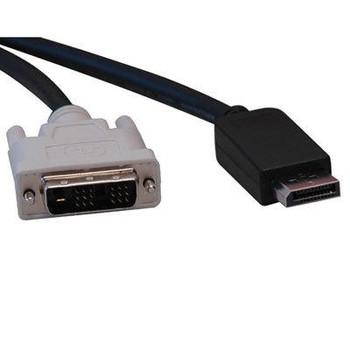 6' Displayport Male to DVI D M
