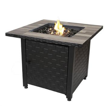LP Gas Fire Table Blk Grey
