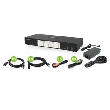 4Port 4K Dual DisplayPort KVM