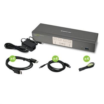 4Port DP KVMP w USB Hub