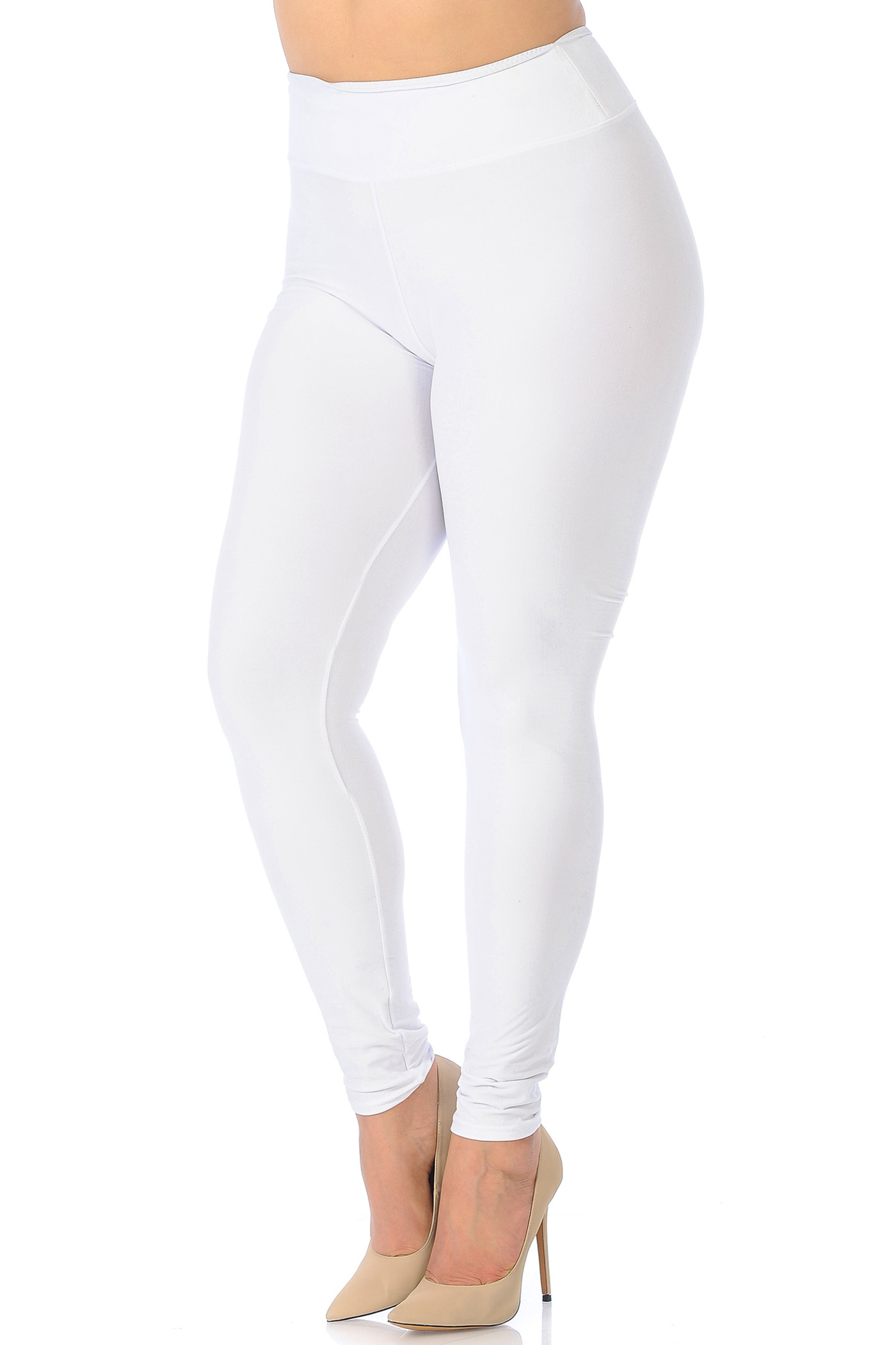 Buttery Soft Basic Solid Leggings - Plus Size - EEVEE - 3 Inch