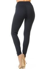 High Waisted Basic Solid Double Brushed Leggings - 3 Inch Waist