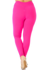 Buttery Soft Basic Solid High Waisted Leggings - Plus Size - 3X-5X - New Mix