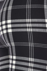 Buttery Soft Black and White Plaid Kids Leggings