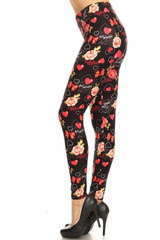 Double Brushed Valentine's Day Leggings - Plus Size - LIMITED EDITION