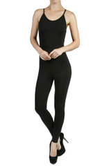 Front side image of Spaghetti Strap Basic Cotton Jumpsuit - Imported