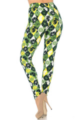 Luck of the Irish Lime Double Brushed Leggings