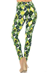 Luck of the Irish Lime High Waisted Double Brushed Leggings