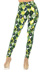 Buttery Soft Luck of the Irish Lime High Waisted Leggings - Plus Size