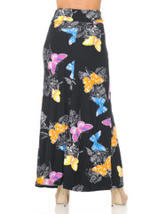 Double Brushed Beautiful Butterfly Maxi Skirt