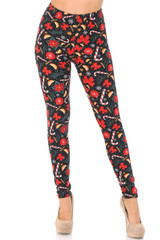 Buttery Soft Memories of Christmas Leggings - Plus Size