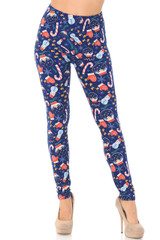 Double Brushed Memories of Christmas Leggings - Plus Size