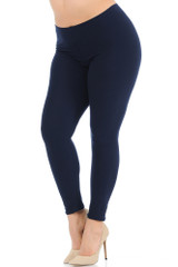 Buttery Soft Basic Solid Leggings - Plus Size - New Mix