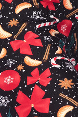 Double Brushed Traditional Country Christmas Kids Leggings