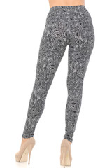 Floral Netted Petal Double Brushed Leggings