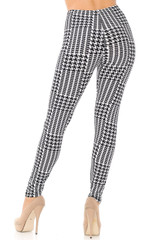 Double Brushed In Motion Houndstooth Leggings - Plus Size