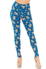 Buttery Soft Christmas Cookies and Snowflakes Leggings - Plus Size