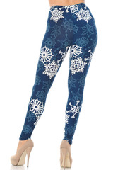 Buttery Soft Gorgeous Snowflakes Leggings