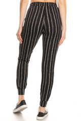 Double Brushed Vertical Artistic Stripe Joggers