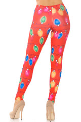 Colorful Holiday Lights Leggings