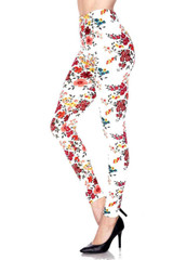Buttery Soft Fresh Spring Floral Leggings - Plus Size