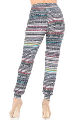 Double Brushed Tribal Cascade Joggers