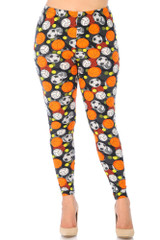 Buttery Soft Sports Ball Leggings - Plus Size