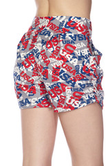 Double Brushed All Over USA Shorts