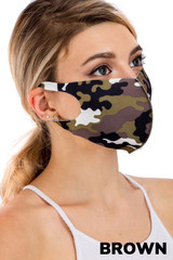 Bling Sequin Textured Plaid Fashion Face Mask - Made in USA