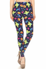 Double Brushed Ghostbusters Ghosts Halloween Leggings - Plus Size