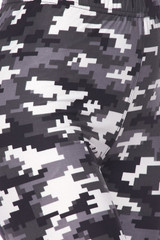 Buttery Soft Pixel Black and White Camouflage Kids Leggings
